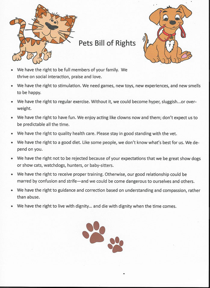 pet bill of rights